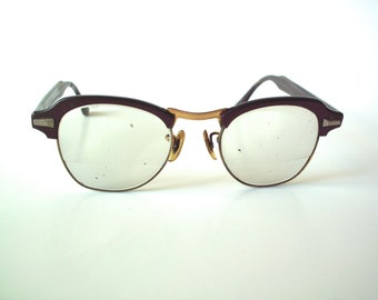 afa63b1db3 Vintage Bausch   Lomb Bi-Focal Safety Glasses with Prescription Glass Lenses