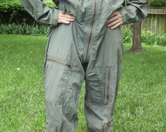 44c7379493b2 Rare Vintage 1966 Mason   Hughes Air Force Flight Suit Coverall