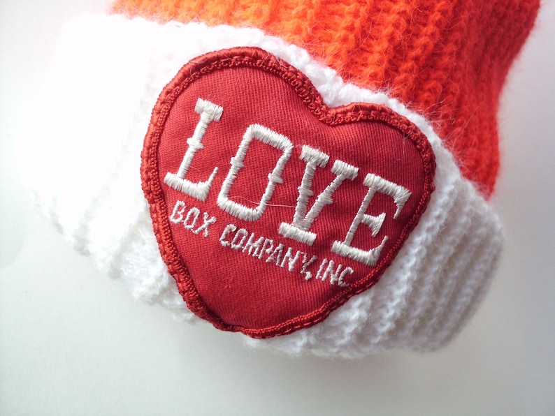dcba48dacb3372 Vintage Love Box Company Inc. Stocking Cap Red And White   Etsy