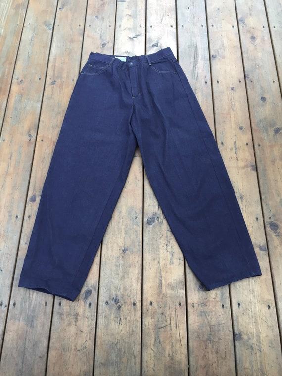 Vintage Sears JR Bazaar Pleated Jeans, Dark Wash S