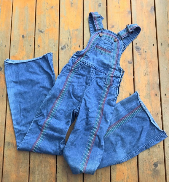 Vintage Faded Glory Rainbow Overalls, Hong Kong, S