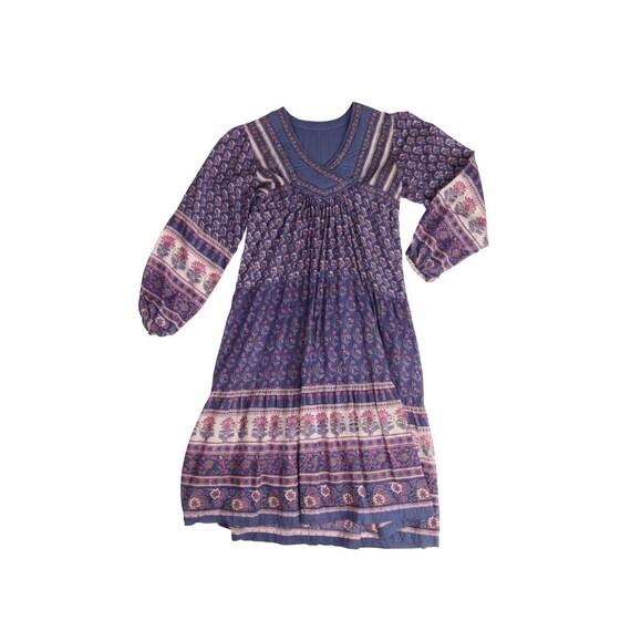 Stunning Purple Indian Gauze Dress