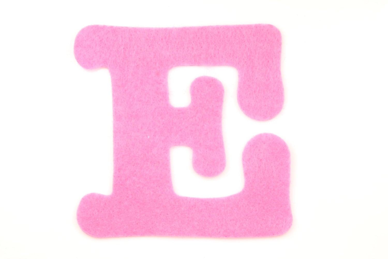 Felt Letter E Choose Color Felt Letters Felt Decorations   Etsy