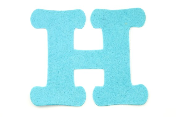 felt letter h choose color felt letters felt decorations etsy