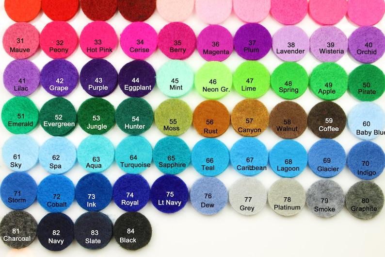 Craft Supplies Felt Backing Felt Circles 1.5-1 Color Hair Accessories 30pcs Supplies Die Cut Die Cut Pre Cut Felt Circles Party