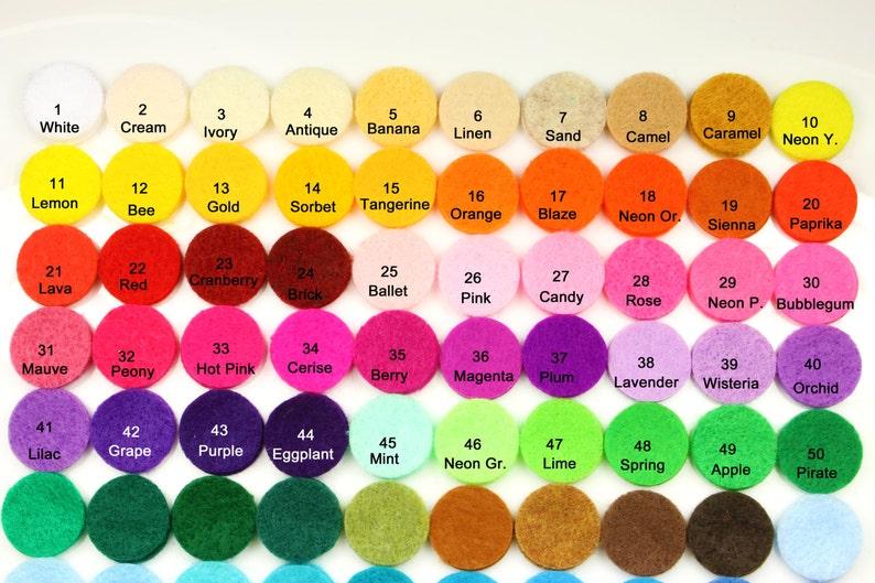 Hair Bow Supplies Felt Supplies 40pcs Felt Circle Felt Headband Supplies Felt Circles 1.25-1 Color Circle DIY Projects Die Cut