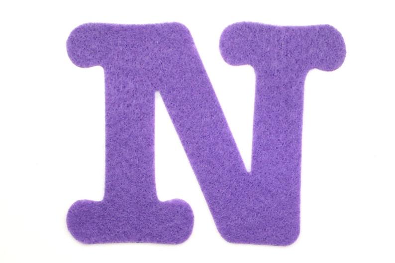 Felt Letter N Choose Color Letters Alphabet Felt Die Cut Etsy
