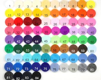 """Felt Circles 1"""" - 10 Colors, 620pcs, Felt Circles, Felt Die Cut, Felt Shapes, Circles, 1 inch, Craft Show Supplies, Die Cut, Shapes, Circle"""