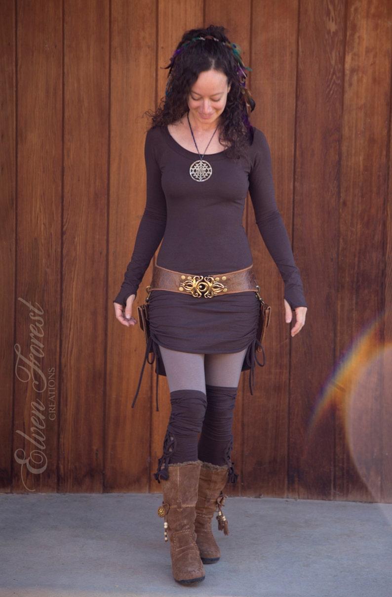 Hi-Lo Scrunchie Dress  Boatneck Scoopneck  in your color image 0