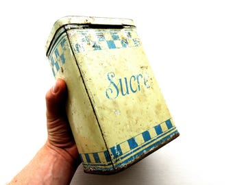 Antique French Sugar Tin