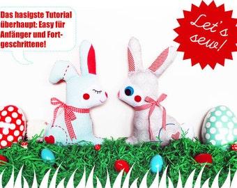 Selber nähen: Hase Sønii (2 Versionen, 3 Größen) (eBook - Deutsche Version)
