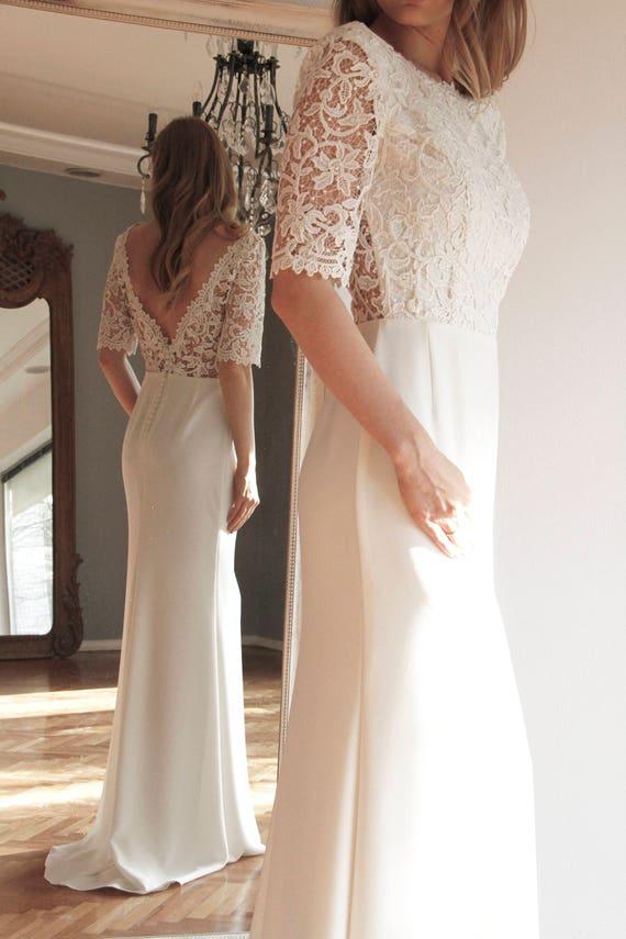 fd905454c3 Wedding dress 'Meghan' | Etsy