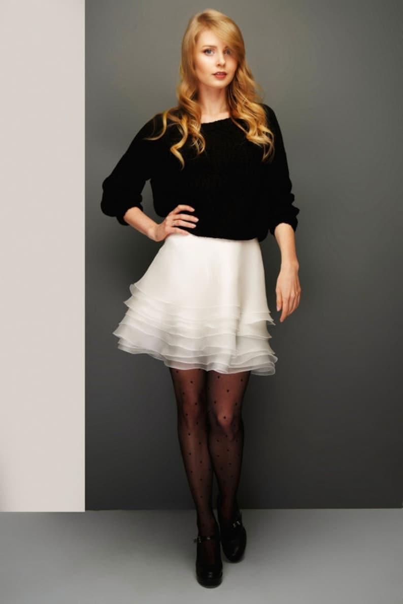 cdf6f0e28a Ruffle Skirt White | Etsy