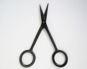 Black precision embroidery sewing craft scissors - simple utilitarian industrial