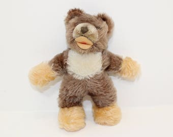 Vintage 1970s Steiff Zotty teddy bear mohair with working squeaker