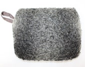 Vintage 1940s real greyk astrakhan wool lamb fur hand muff winter warmer with built in clutch bag handbag