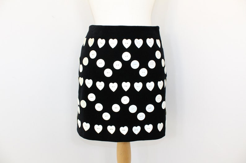 5c3fb662fec Vintage 1990s Moschino Cheap and Chic body con skirt black