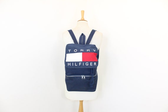 Vintage 1990s large Tommy Hilfiger backpack drawst