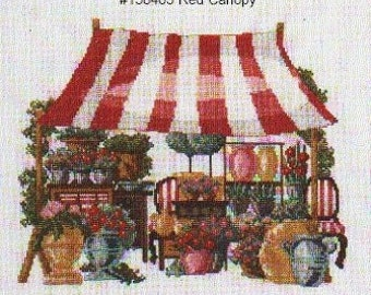 Permin Cross Stitch PATTERN/GRAPH   Fair Booth-Flower Booth NEW