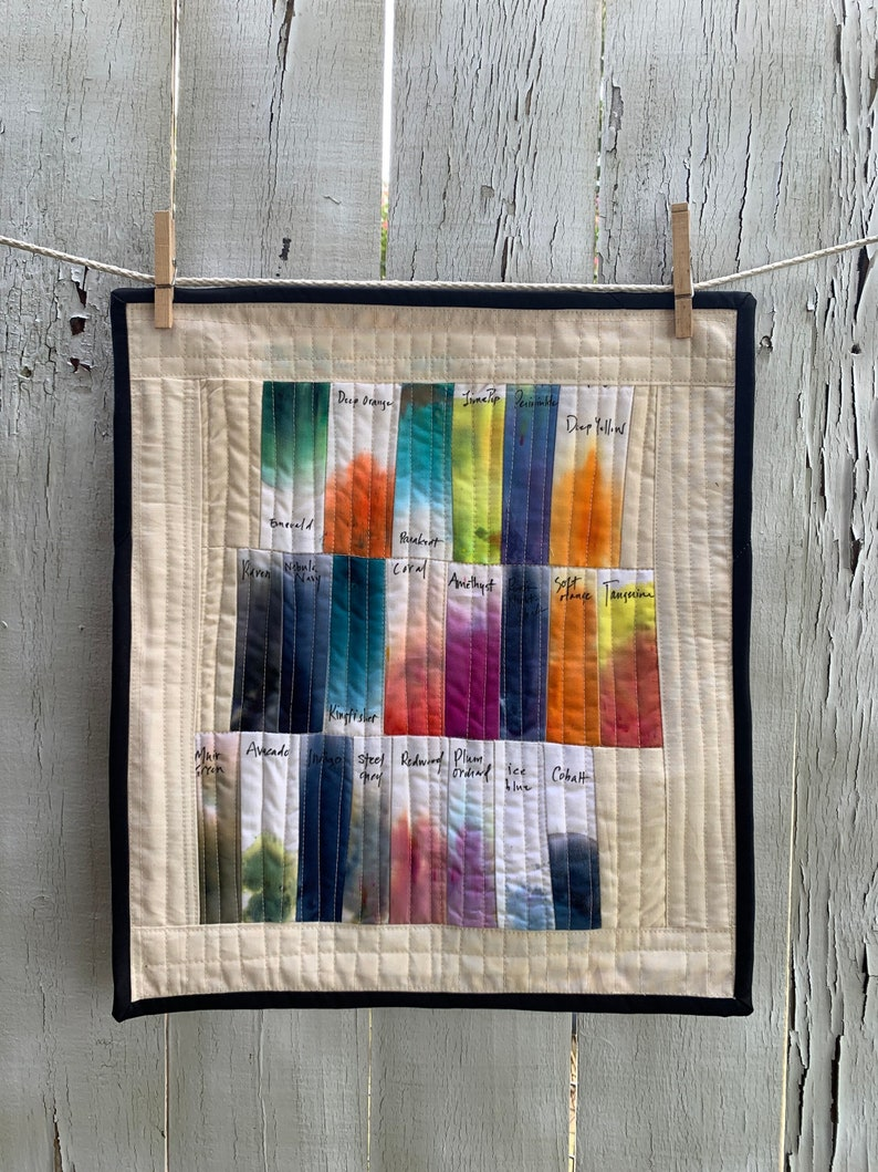 Color Swatch Quilt Organic Cotton Handmade Wall Hanging image 0