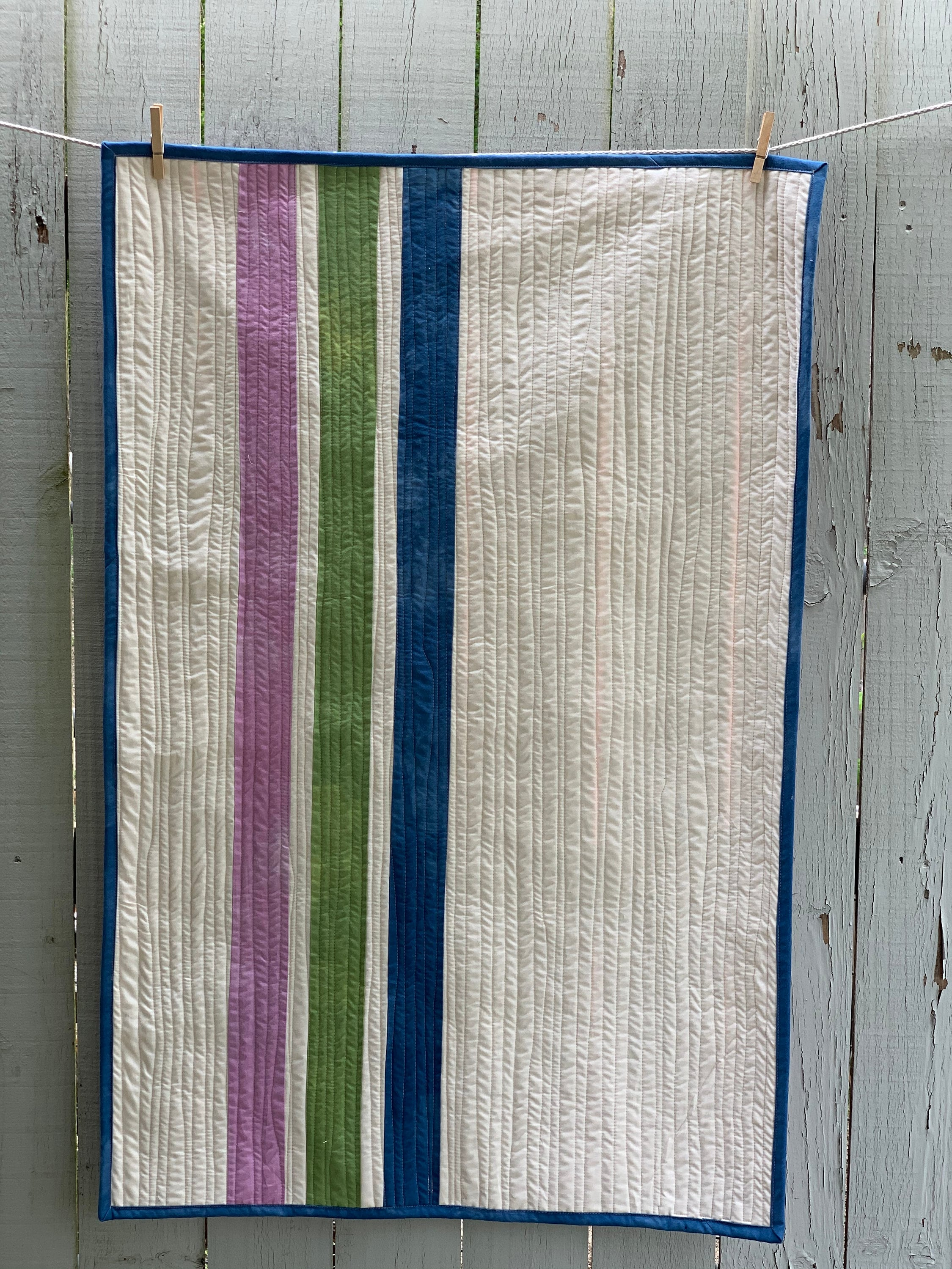 Baby Quilt, Choose Your Colors, Rainbow Crib Quilt, Striped Quilt