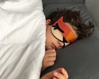 Organic Eye Mask, Handmade Eye Mask, Spa Gift, Sleep Aid, Foxy Eye Mask, Red Fox Sleep Mask, Made to Order