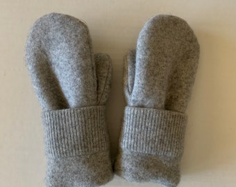 Cashmere Sweater Mittens - Upcycled Wool and Fleece Mittens - Bernie Sweater Mittens #06