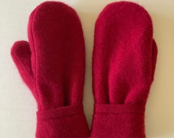 Cashmere Sweater Mittens - Upcycled Wool and Fleece Mittens - Bernie Sweater Mittens #014