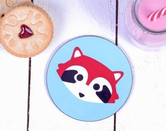 Red Panda Gifts - Cute Gifts - Red Panda Coaster - Coaster Set - Drinks Coasters - Drinks Mat - Gifts For Animal Lovers