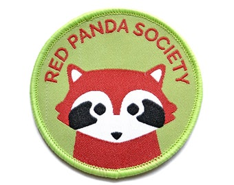 Red Panda Patch - Iron On Patch- Embroidered Patch - Jacket Patches