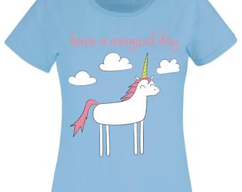 Womens Unicorn T-Shirt / Unicorn Gift / Girls Clothing / Cute Unicorn