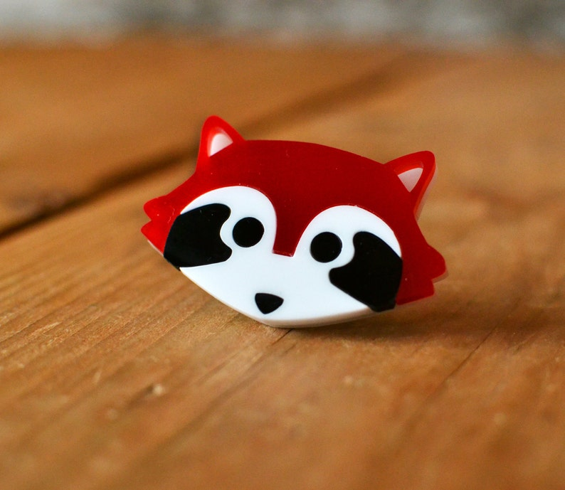 Red Panda Brooch  Stocking Stuffer  Cute Brooch  Stocking image 0