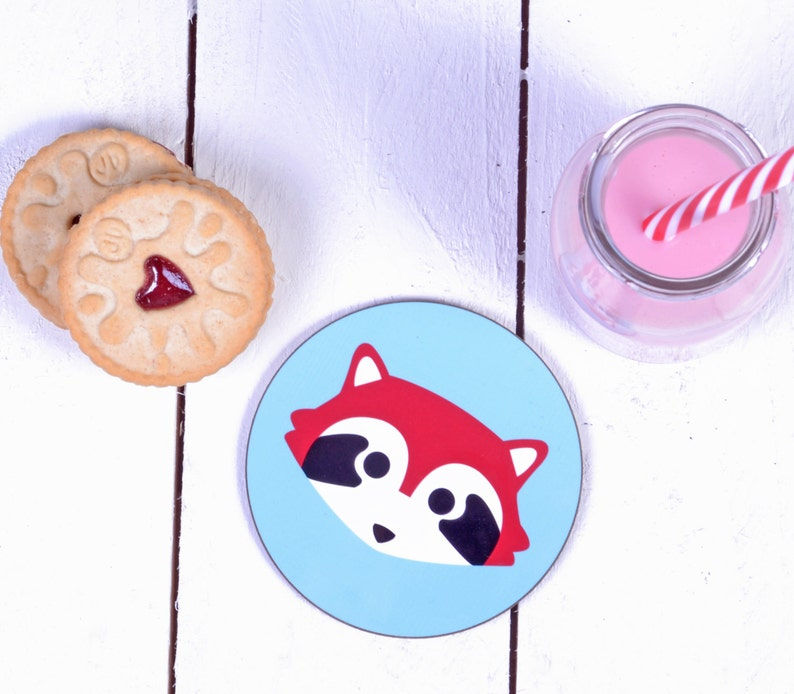 Red Panda Gifts  Cute Gifts  Red Panda Coaster  Coaster Set image 0