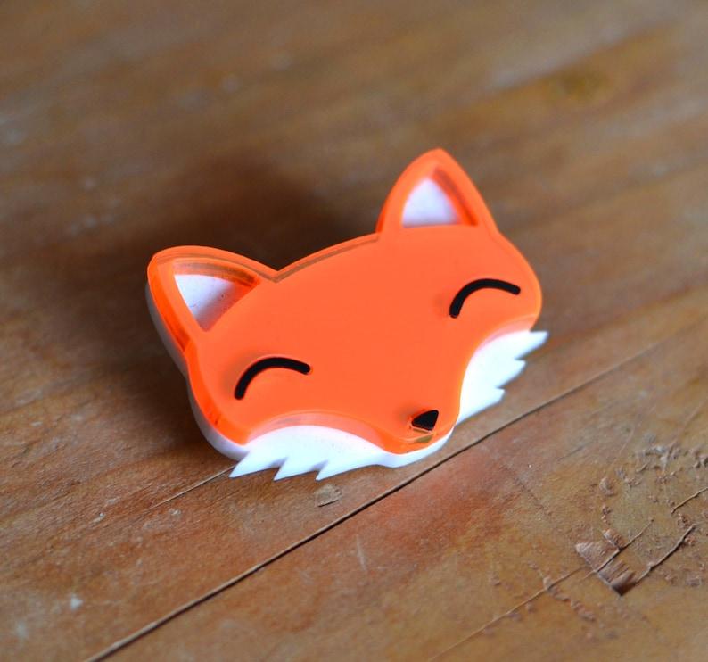 Gifts For Fox Lovers Stocking Fillers Stocking Stuffers Fox Gift Fox Jewellery Cute Brooch Fox Gifts Fox Brooch