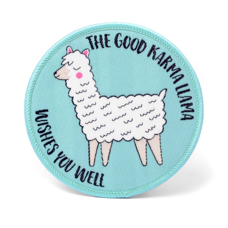 Llama Embroidered Patch Motivational Patch Iron On Patch image 0