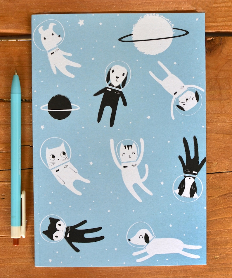 Cat Lover Gift  Notebook A5 Cat Notebook  Dog Lover Gift  image 0