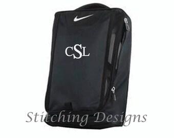 NIKE Golf shoe bag with monogram, Monogrammed golf show tote, Personalized golf shoe bag