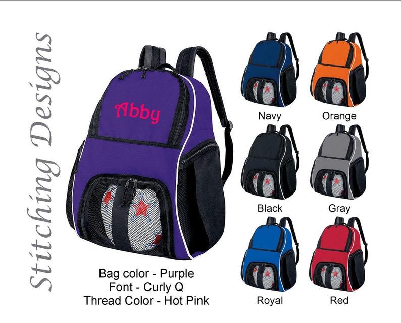 02f1e57cb Personalized soccer backpack Equipment bag Soccer ball bag | Etsy