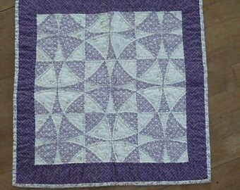 Violet Optical Illusion Quilt
