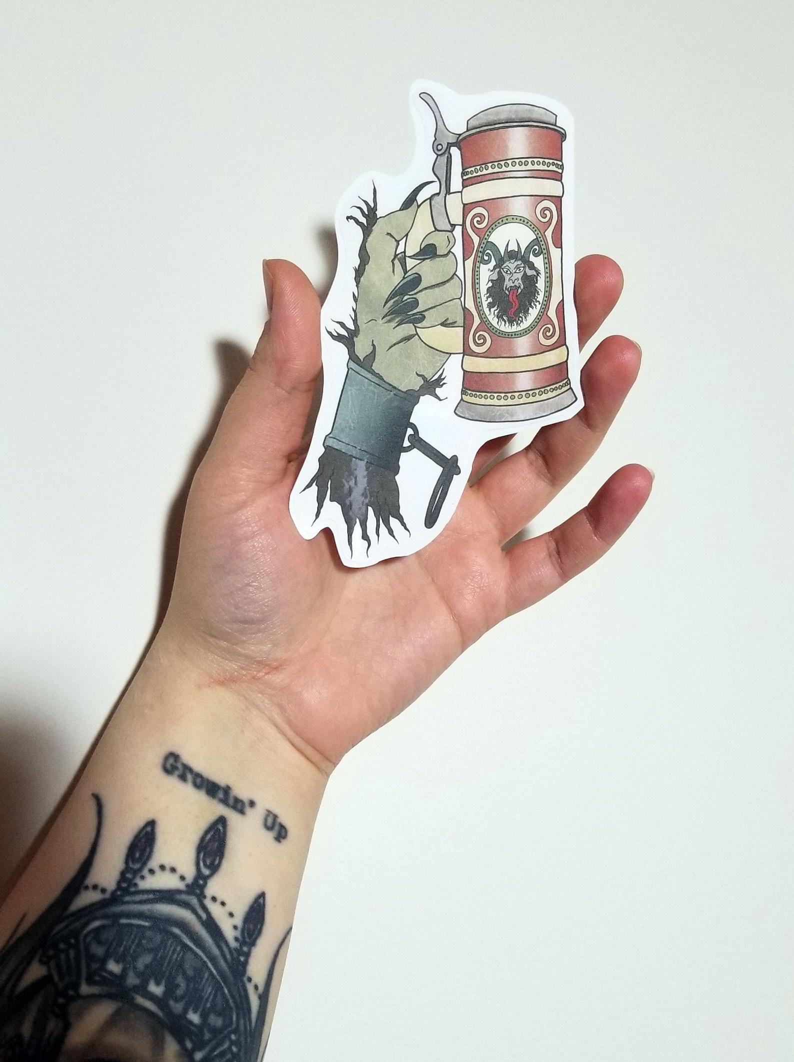Krampus Stein Sticker 3.5