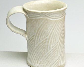 Handbuilt Stoneware Mug Buttermilk Glaze