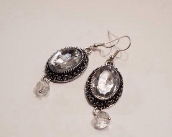 Opulent crystal earrings
