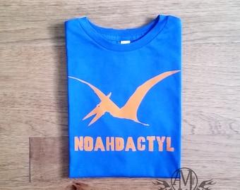 Personalized dinosaur shirt, kids pterodactyl shirt, dinosaur birthday party shirt, personalized shirts for kids, boy shirts