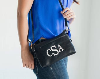Monogram Crossbody purse, monogrammed bag, bridesmaids gift, monogrammed gifts, gifts for her, gifts under 25