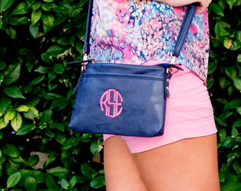 Crossbody purse, Monogram purse, Gifts for her, Monogrammed Purse, Personalized Purse, monogrammed gifts, gifts for her, gifts under 25
