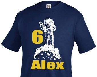 Astronaut Birthday shirt, Astronaut Shirt, outer space Birthday, outer Space Shirt, personalized shirt, six birthday, boy birthday shirt