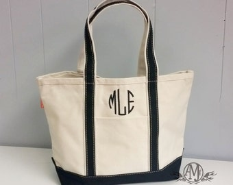 Monogrammed Canvas Tote Bag, monogram Tote bag, Beach Bag, Monogrammed Bridesmaid Gift, gift for her, gifts under 30, monogrammed gifts
