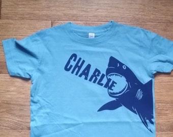 Personalized shark birthday shirt, shark birthday, shark shirt, boys birthday shirt, toddler shirt, personalized shirts,