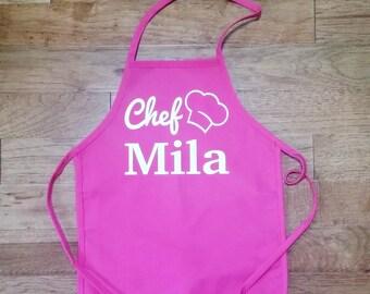 Personalized kids apron, kids cooking apron, baking apron, personalized apron, gift for kids, childs apron