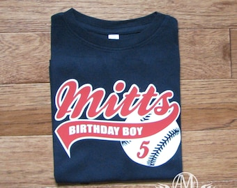 Baseball birthday shirt, boys baseball shirt, boys birthday shirt, baseball birthday party, personalized shirts, toddler shirts,